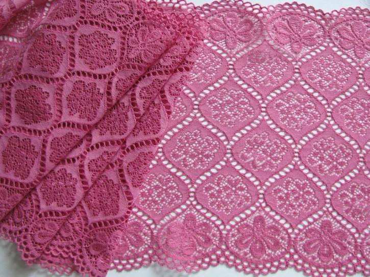 1m elastische XL-Spitze in pinkiges burgonville Fb1061