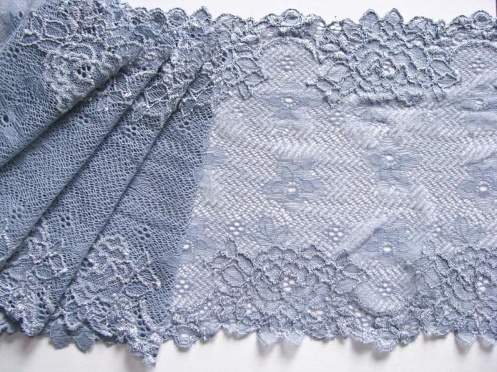 1m elastische Spitze in tauben-blau Fb1363