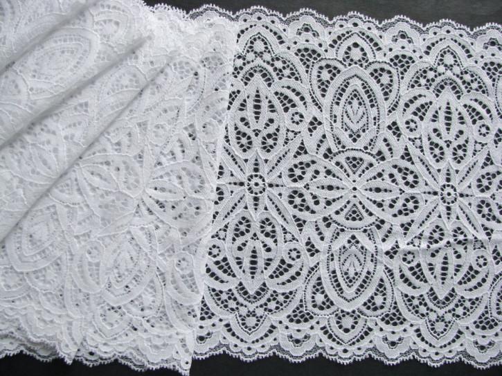 1m elastische XL-Spitze in rein-weiß Fb2000