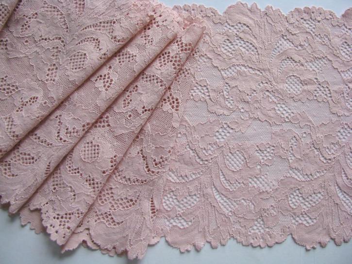 1m elastische Spitze in puder-rosa/nude Fb1063