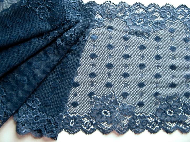 1m elastische Spitze in d. jeans-blau Fb1467