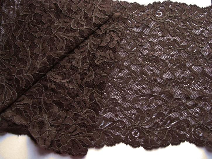 1m elastische XL-Spitze in mocca/kaffee-braun Fb0395