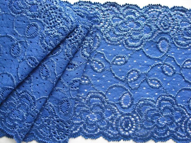 1m elastische Spitze in korn-blau Fb1463