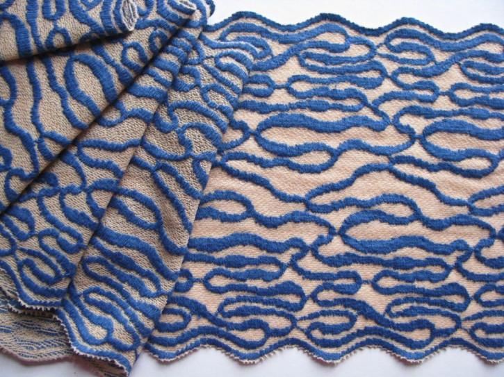"1m elastische Spitze ""Blue Waves"""