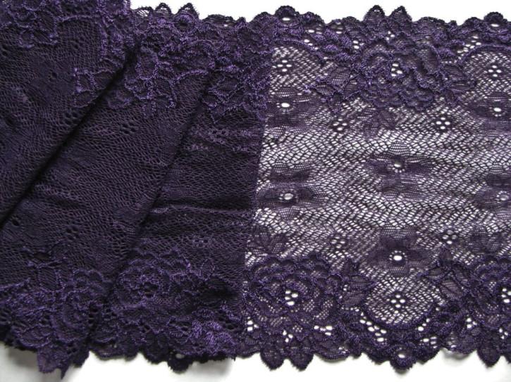 1m elastische Spitze in d.violett Fb0578