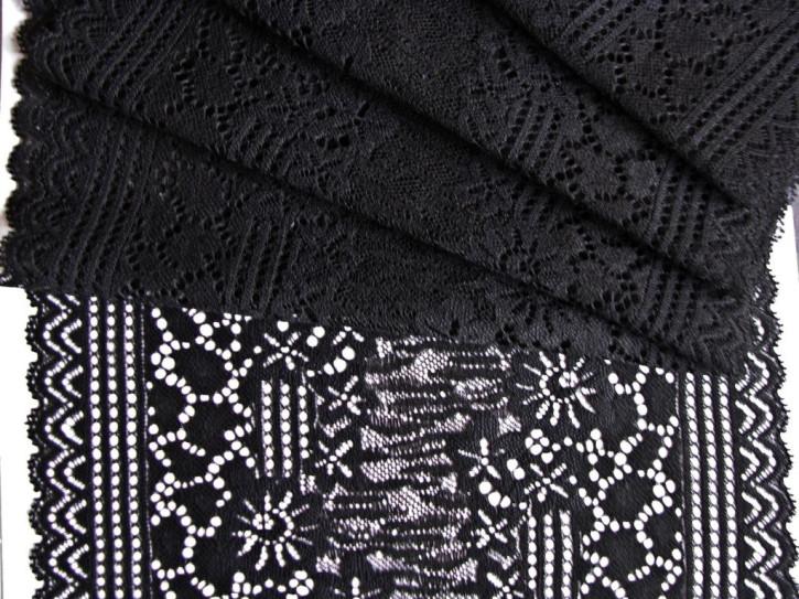 1m elastische XL-Spitze in schwarz Fb4000