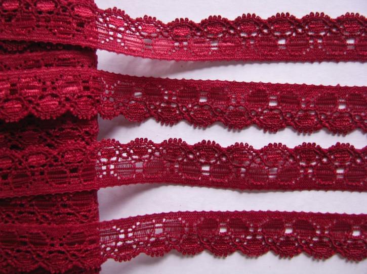3m elastische Abschluss-Spitze in wein-rot Fb0918