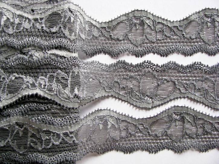 2m elastische Abschluss-Spitze in stahl-grau Fb0878
