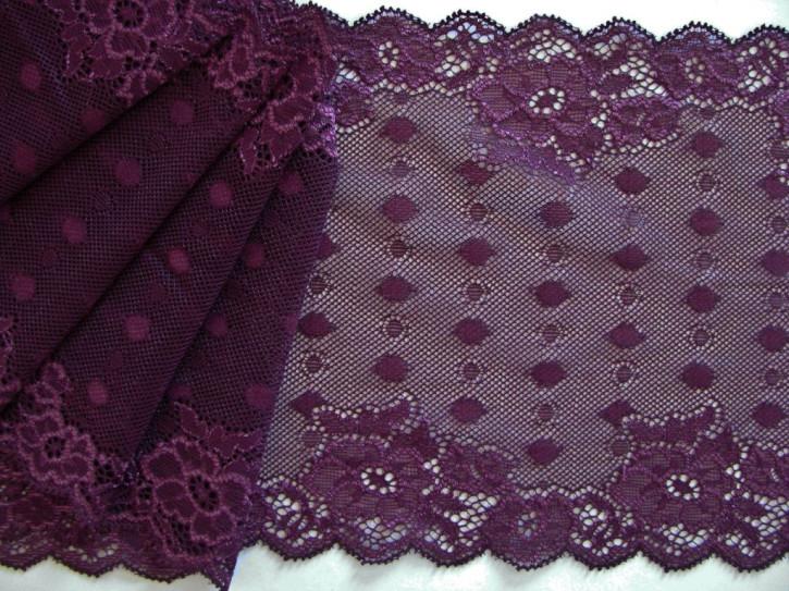 1m elastische Spitze in rot-vioeltt/Richtung hollunder Fb0057