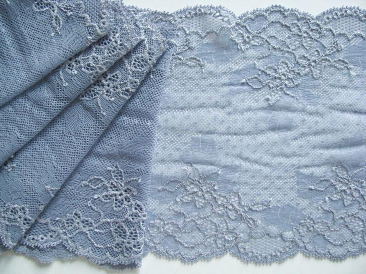 1m elastische Spitze in chambray-blau Fb1363