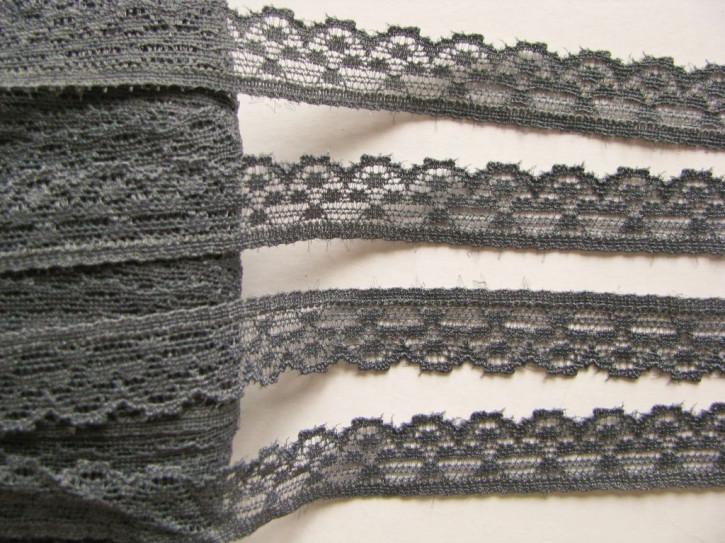 3m elastische Abschluss-Spitze in schiefer-grau Fb1452
