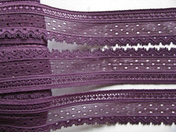 2m elastische Abschluss-Spitze in hollunder Fb0578 - 3cm