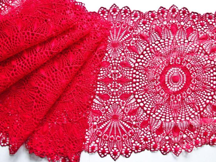 1m elastische XL-Spitze in kirsch-rot Fb0504 - 24,5cm