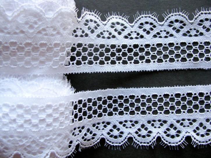 2m elastische Spitze in rein-weiß Fb2000