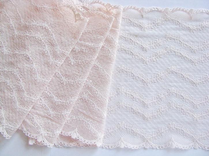 1m elastische Spitze in porzellan/ein Hauch von puder-rosa Fb3518