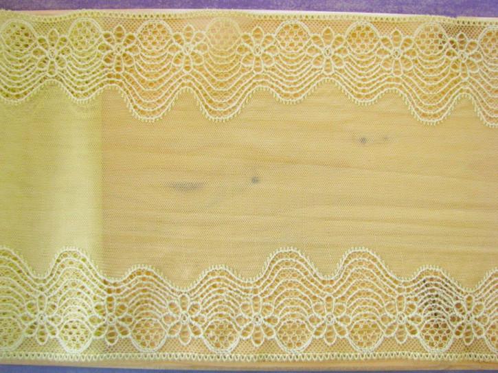 1m elastische Spitze in pastelligem gelb-grün Fb1400