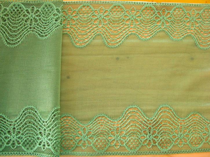 1m elastische Spitze in laub-grün Fb0224