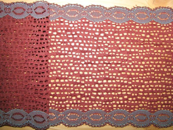 """1m elastische Spitze """"Braided Laces - türkis"""""""