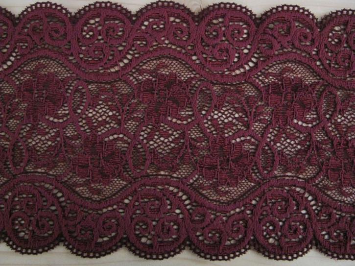 1m elastische Spitze in dunklem bordeaux Fb0111