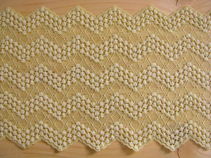 elastische Spitze in hellem gold-grün Fb1148