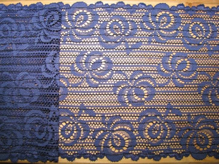 1m elastische Spitze in jeans-blau Fb1467 und schwarz