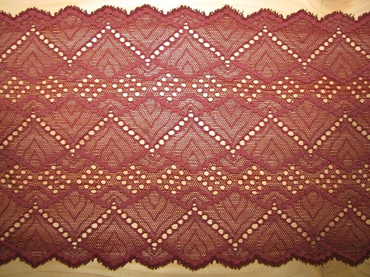 elastische Spitze in chestnut/kastanie Fb1348