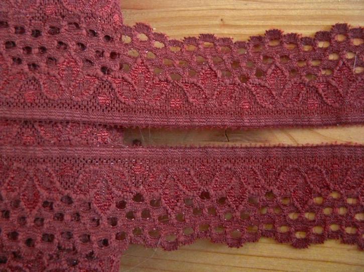 3m elastische Abschluss-Spitze in chetsnut Fb0197