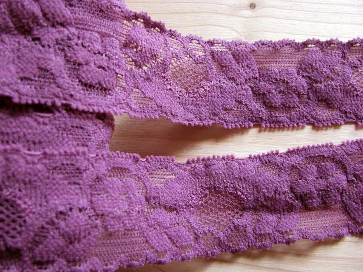 2m elastische Spitze in rot-violett Fb0056
