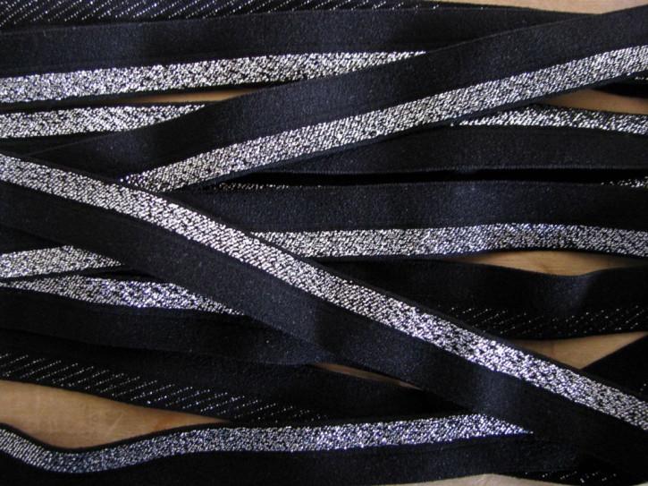 6m Falzgummi in schwarz/silber Fb4000...