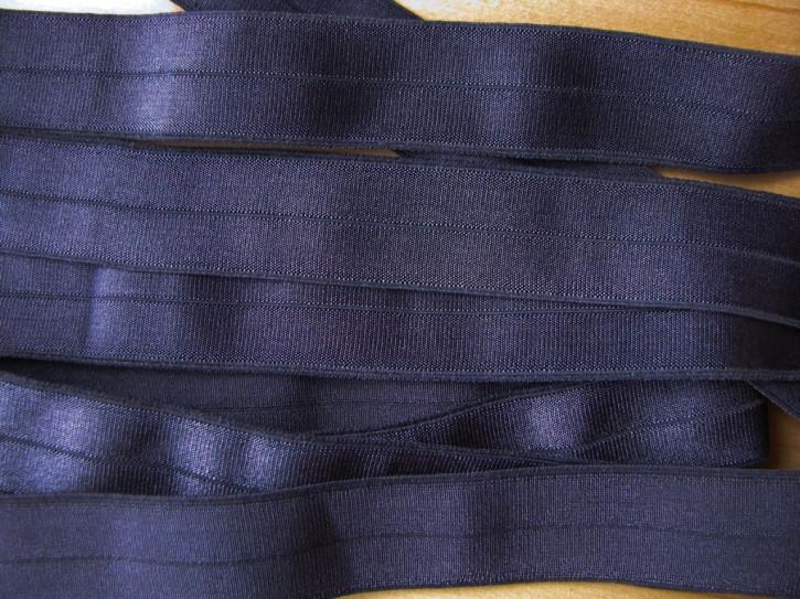 6m Falzgummi/Faltgummi in nacht-blau Fb0821