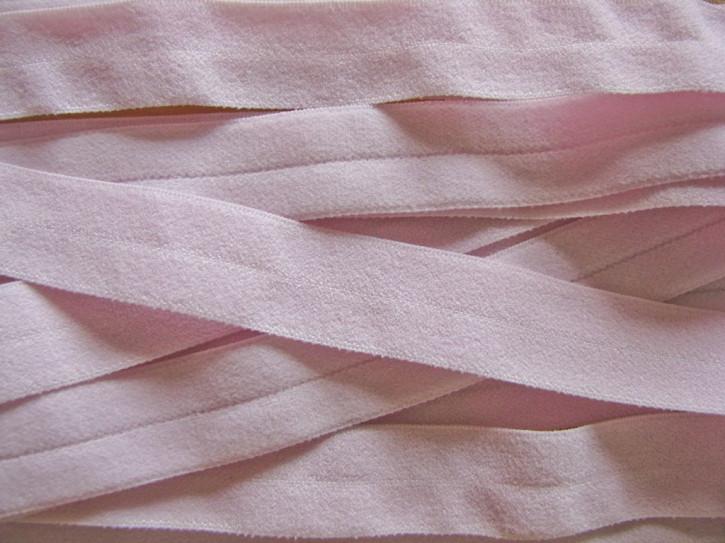 6m Falzgummi in einem Hauch von rosa/Richtung iris Fb0063 - samtig