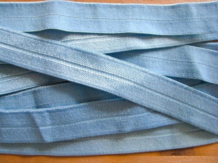 6m Falzgummi in hellem puder-blau Fb1464
