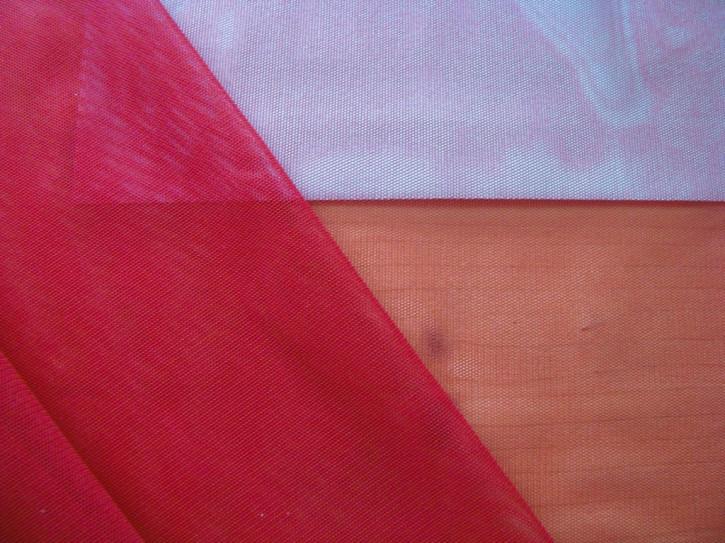 1m Wäsche-Tüll in krisch-rot Fb0629
