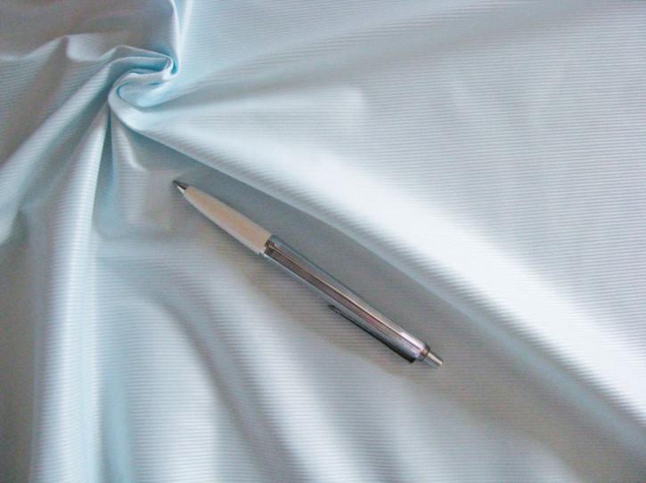 1m hochwertiger Wäschestoff/zarte Streifen in eis-blau Fb0271