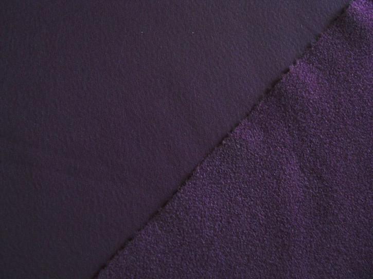 1m Flausch-Wirkfutter-Stoff in dunkelm violett Fb0046