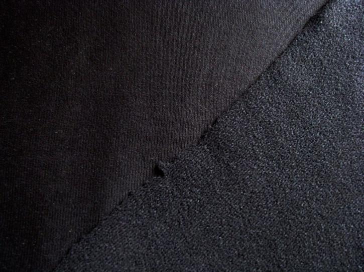 1m Flausch-Wirkfutter-Stoff in schwarz Fb4000