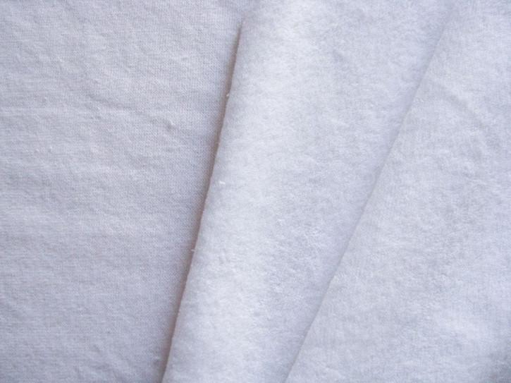 1m Flausch-Wirkfutter-Stoff in rein-weiß Fb2000