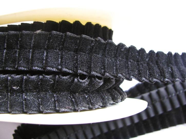 2m Samt-Rüschenborte in schwarz Fb4000