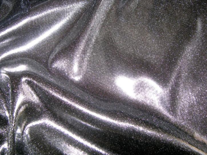 1m Folien-Jersey in glänzendem silber