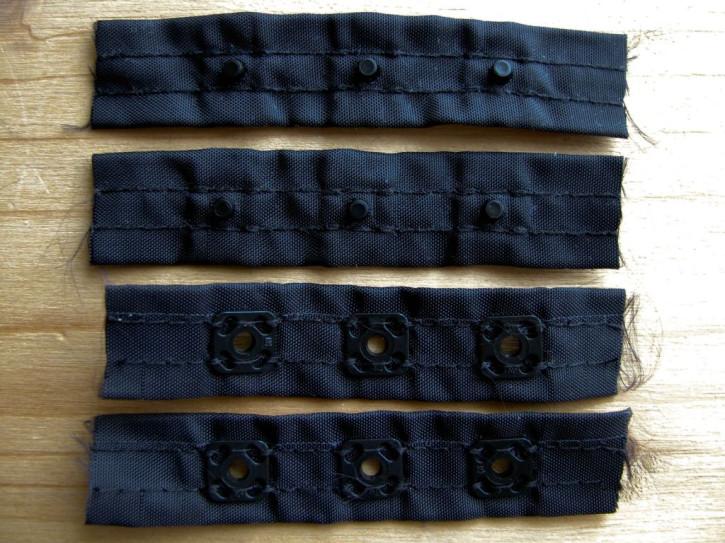 2 Paar Body-Verschlüsse in schwarz Fb4000