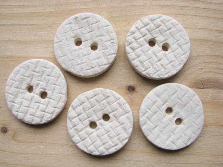 5 Stk./1 Set Keramik-Knopf-Unikat handgemacht lt. Bild