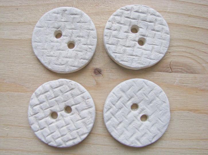 4 Stk./1 Set Keramik-Knopf-Unikat handgemacht lt. Bild