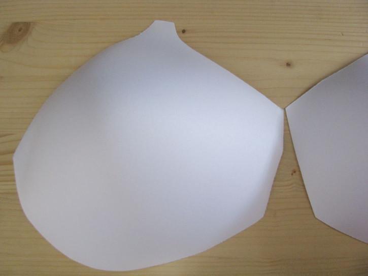 1 Paar BH-Körbchen/Schalen in rein-weiss 52er