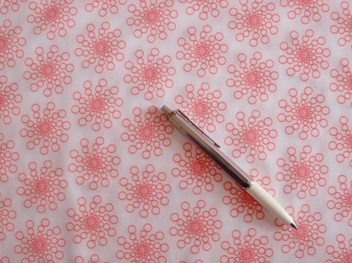 Lycra zart gemustert in rein-weiß Fb2000 und rosè