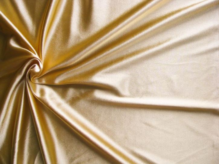 1m bi-elastische Microfaser in glänzendem gold Fb3600