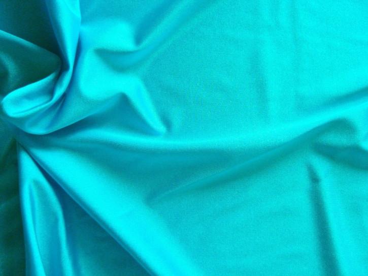 1m bi-elastische Microfaser in türkis-blau Fb1394 - glänzend (S)