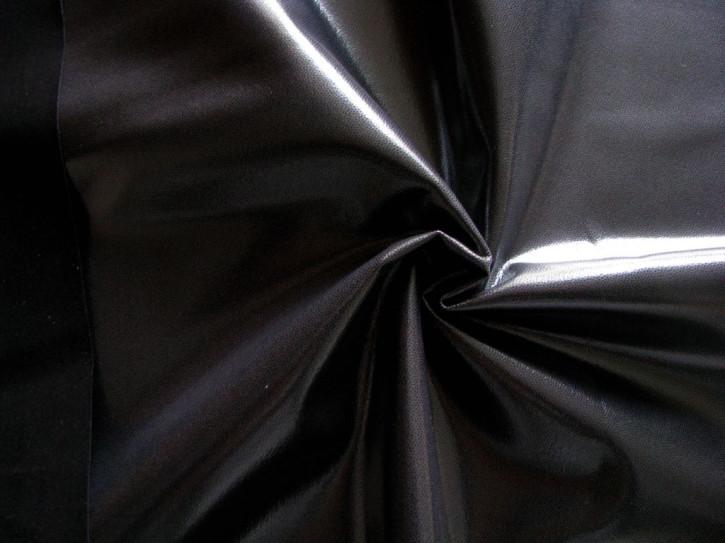 1m Bekleidungs-Lederimitat in d.stahl-grau/schwarz Fb0878