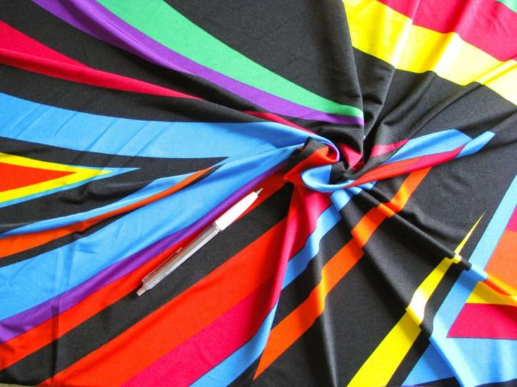 """1m bi-elastische Microfaser """"Colorful painting"""" in schwarz/weiß"""