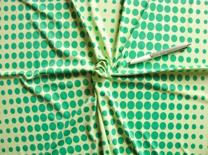 """1m bi-elastische Microfaser/Lycra """"Green Dots"""""""