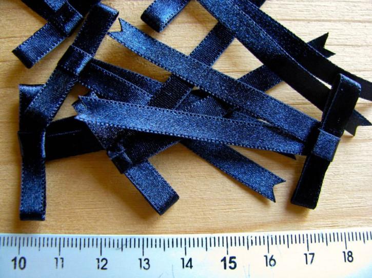 4 Satin-Schleifchen in nacht-blau Fb0821